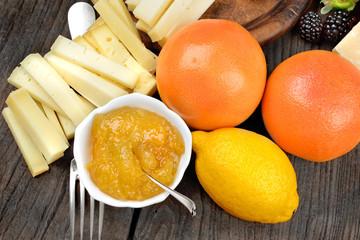confettura di agrumi e formaggi