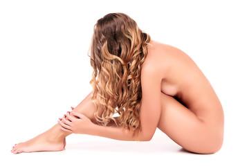 Naked thin woman