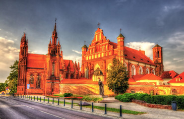 Church of St. Francis of Assisi in Vilnius, Lithuania