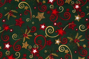 cloth with Christmas pattern