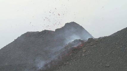 Strombolian activity from the cinder cone