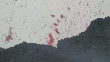 big explosion of lava