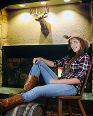 Relaxed Cowgirl