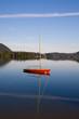 canvas print picture - ein Segelboot allein auf dem Schliersee