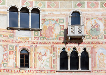 Frescoes on the Exterior Wall of the Castle of Spilimbergo