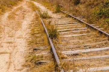 perspective abandoned railway