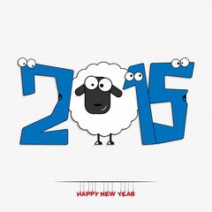 New year 2015 greeting card design