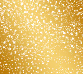 Abstract background with snowflakes, stars and blur boke