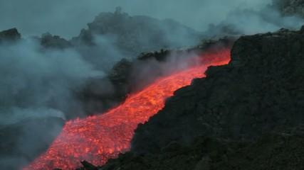 Etna lava flow in july 2014