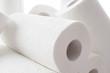 Leinwandbild Motiv Composition with paper towel rolls