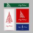 Christmas set for print cards