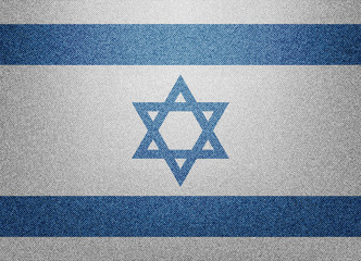 Denim Israel flag