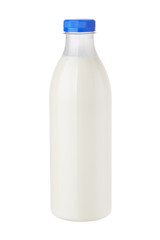 bottle of milk on white background
