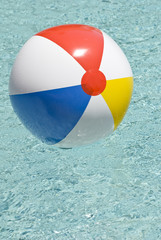 Beach Ball In Swimming Pool Vertical