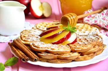 Apple waffles.