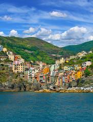 Postcard from Rio Maggiore Cinque terre, Italian riviera