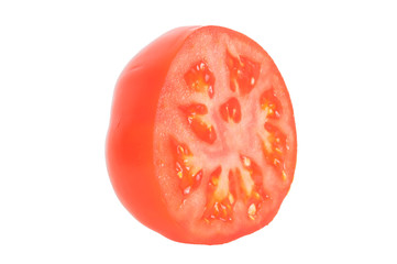 Tomate halbiert