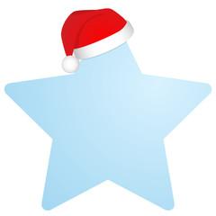 Stern mit Nikolausmütze