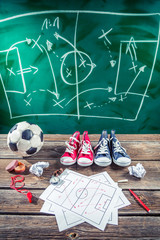 Planning win the match in soccer