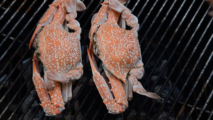 Grilled crab on the stove. HD