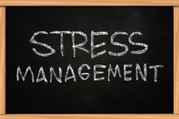 Stress Management Chalk Writing on Blackboard