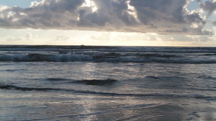 Waves During Rising Tide at Daybreak