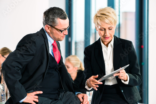 canvas print picture Business - meeting in office, senior managers