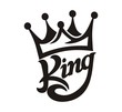 Leinwandbild Motiv crown king typography