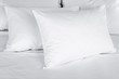 White pillows on bed close up - 70971195