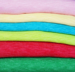Colorful folded cotton polyester ,texture, background