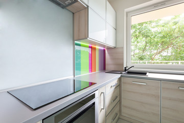 Kitchen with colourful decoration