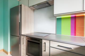 Colourfull modern kitchen