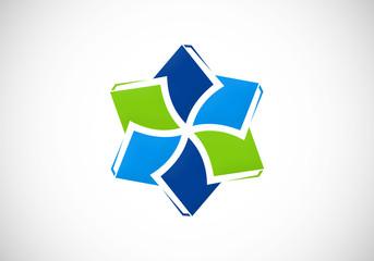 circle book education ebook vector logo
