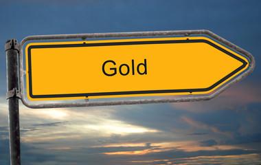 Strassenschild 19 - Gold