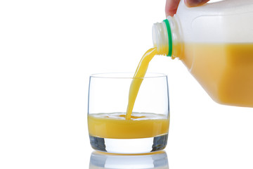 Fresh Orange Juice being poured