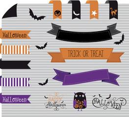 halloween banner, tag, app