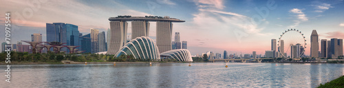 Poster Stad gebouw Landscape of the Singapore