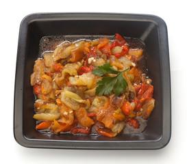 Appetizer of baked pepper