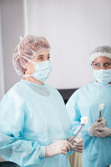 woman surgeon in the operating room
