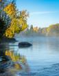 Leinwandbild Motiv Autumn river