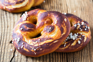 Pretzels, traditional German baked bread