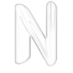 """Alphabet on white background. Letter """"N"""". Pencil drawing"""