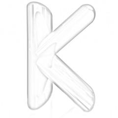 """Alphabet on white background. Letter """"K"""""""