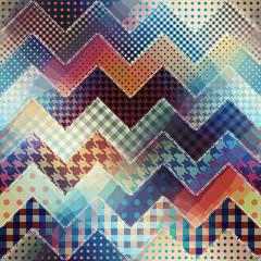 Chevron patchwork pattern.