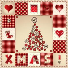 "card ""Merry Christmas"" with Christmas tree"