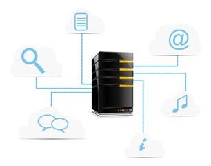 vector cloud computing website server