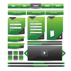 website design template elements