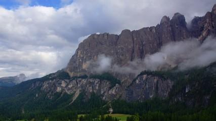 Dolomites in rainy day, Italian Alps