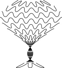 black wineglass, vector illustration