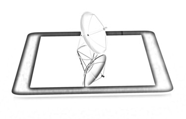 The concept of mobile high-speed Internet. Pencil drawing